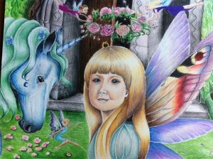 Fairy Homecoming: my inner child- she looks a bit calmer here!
