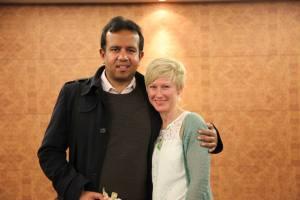 Dr Russell Razzaque with Katie Mottram.